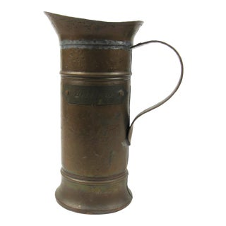 "19th Century French Copper ""Un Litre"" Tankard For Sale"