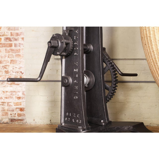 Brown Engine Hoist With Nanna Ditzel Hanging Egg Chair For Sale - Image 8 of 12