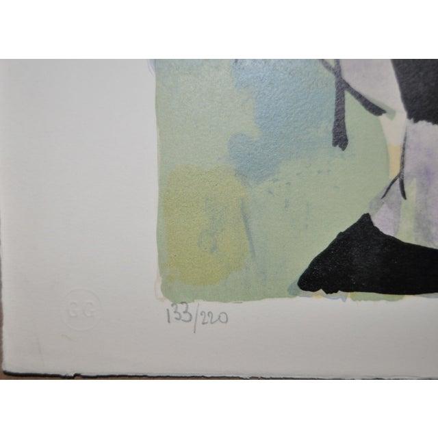 Claude Schurr Color Lithograph C.1950 For Sale - Image 5 of 7