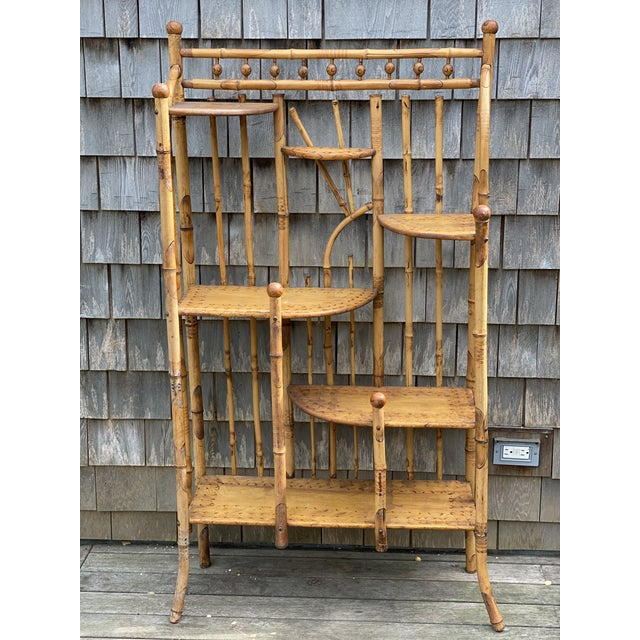 Vintage Asian Bamboo Etagere For Sale - Image 9 of 9
