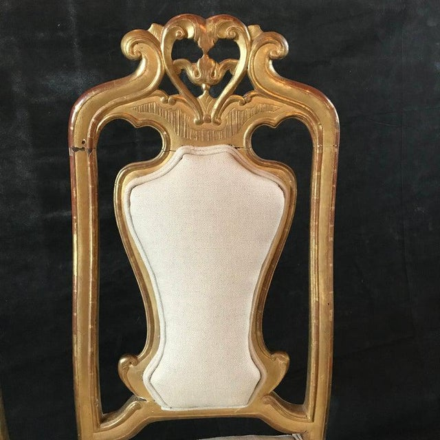 Late 19th Century French Giltwood Chairs- A Pair For Sale - Image 9 of 11