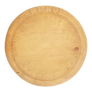 Antique Victorian Sycamore Bread Chopping Board For Sale