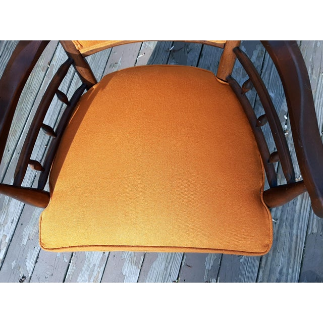 Vintage Mid Century Modern Maxwell Royal for Dunbar High Back Armchair Original Fabric For Sale - Image 6 of 13