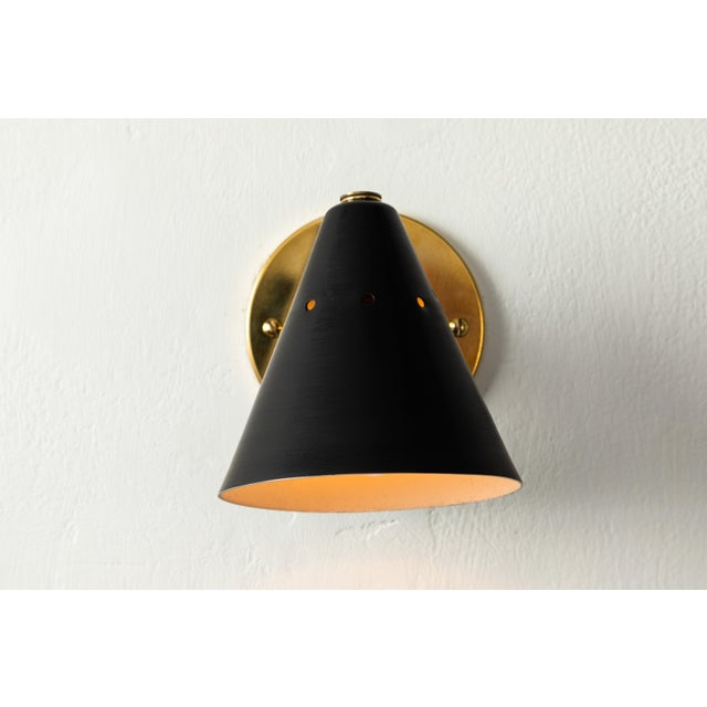 1950s 1950s Italian Perforated Cone Sconce in the Manner of Arteluce For Sale - Image 5 of 12