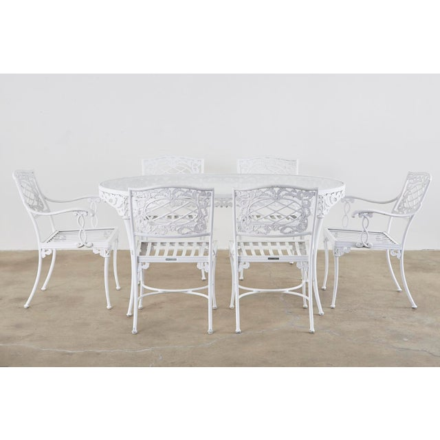 Neoclassical Brown Jordan Neoclassical Style Aluminum Garden Dining Set For Sale - Image 3 of 13