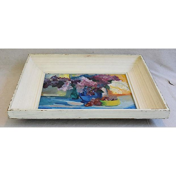 1940s Beautiful Floral Still life Oil Painting - Image 8 of 9