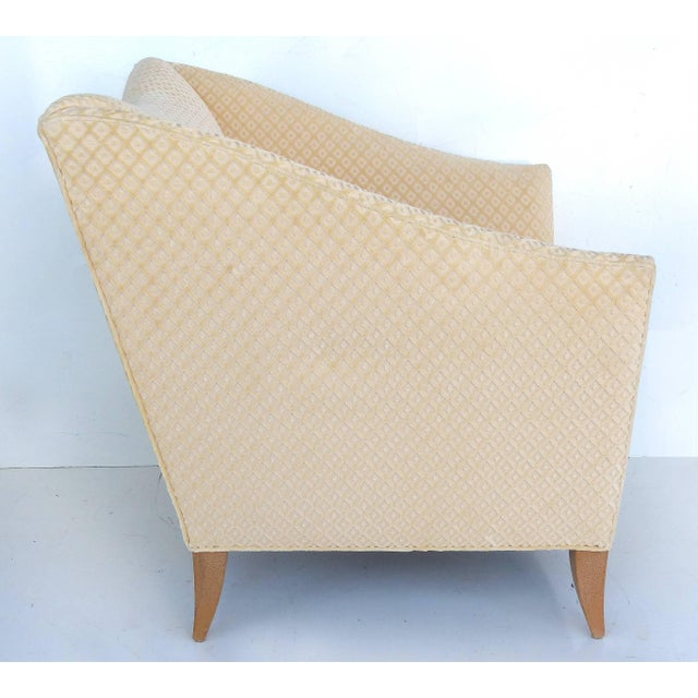 Donghia Sculptural Upholstered Club Chairs Attributed to Donghia - a Pair For Sale - Image 4 of 11