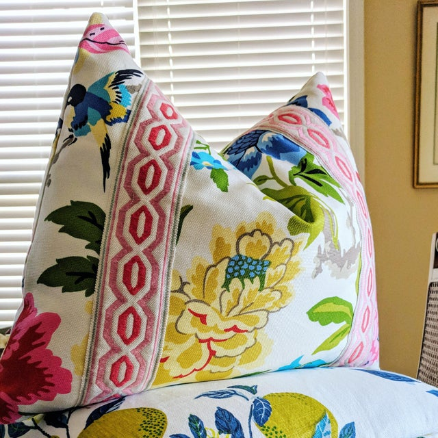 Waverly Candid Moment Floral Pillow