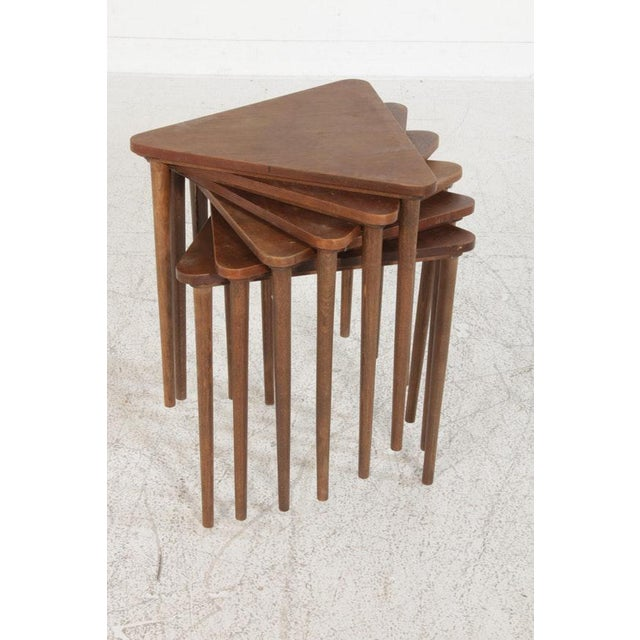 Vintage Mid-Century Danish Modern Rosewood Nesting Coffee Table - 7 Pieces For Sale - Image 6 of 8
