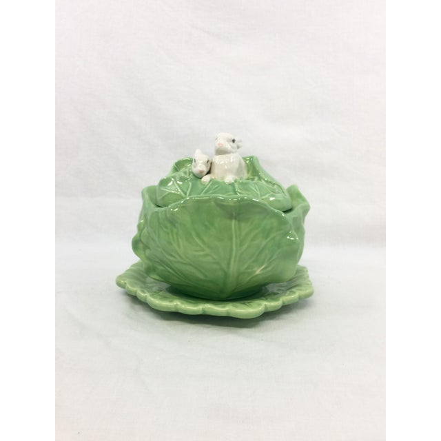 Rabbit & Cabbage Tureen & Under Plate For Sale - Image 4 of 10