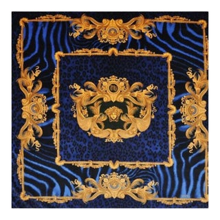 Custom Made Versace DV Animal Print Custom Made Velvet Throw For Sale