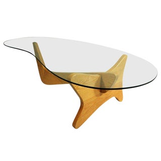 Mid-Century Modern Noguchi Style Biomorphic Glass Coffee Table For Sale