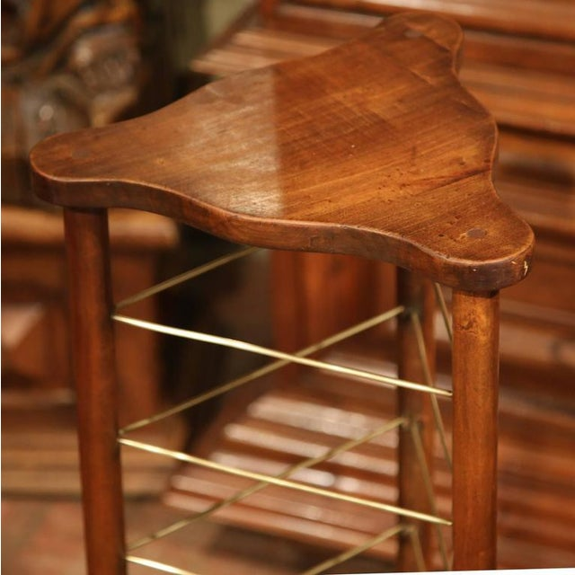 19th Century French Louis Philippe Walnut Plate Rack For Sale - Image 4 of 9