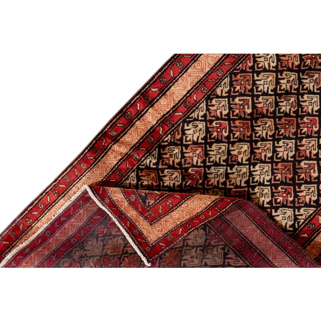 """Islamic Vintage North West Persian Rug, 4'5"""" X 10'0"""" For Sale - Image 3 of 9"""