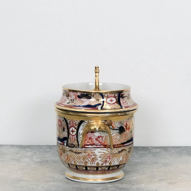 An early 19th Century English Coalport fruit cooler in the Admiral Nelson pattern, circa 1810. The lid and base were...