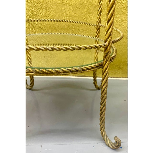 Vintage Hollywood Regency 3 Tiered Rope and Tassel Table For Sale - Image 4 of 5