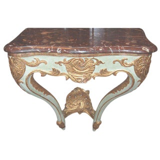 19th C. Red Marble Top Console