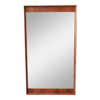 Large Mid-Century Modern Kent Coffey Perspecta Walnut and Rosewood Mirror For Sale