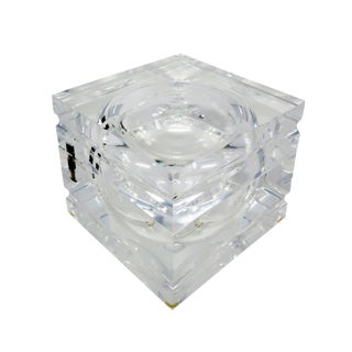 Vintage Lucite Ice Bucket by Alessandro Albrizzi For Sale