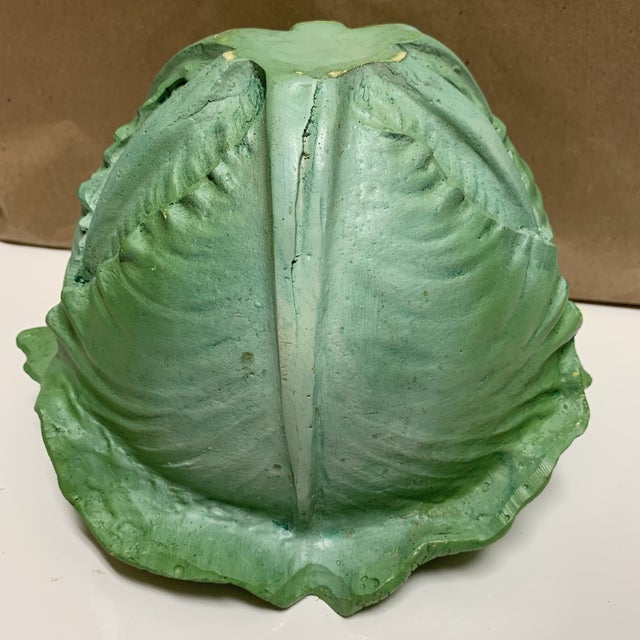 Green Mid 20th Century Cabbage Head Mold Bowl For Sale - Image 8 of 13