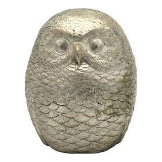 Small Bronze Owl Figurine For Sale