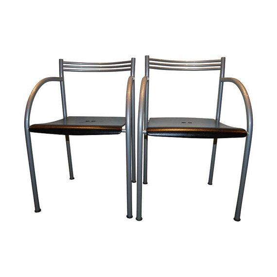 Note from the seller: Set of 4 Baleri Italia - Philippe Starck Francesca Spanish chairs. These were made in the early...