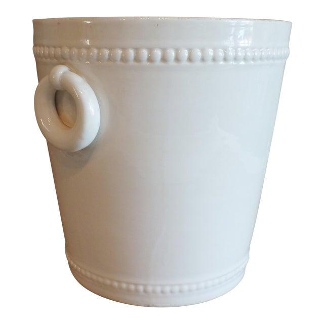 Vintage Bassanello White Italian Planter Cache Pot For Sale