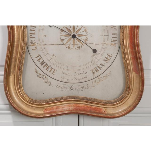 French 19th Century Gold Gilt Barometer For Sale In Baton Rouge - Image 6 of 13