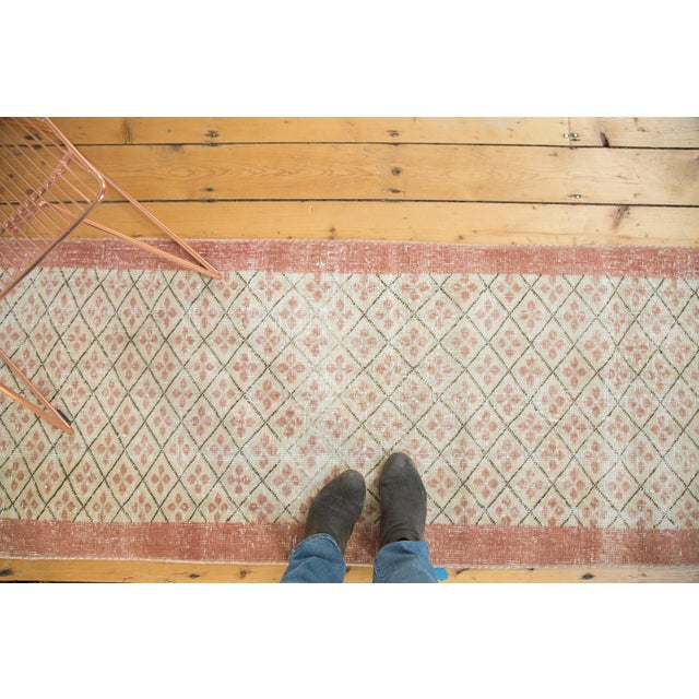 "Vintage Distressed Oushak Runner- 2'3"" x 9'6"" - Image 7 of 7"