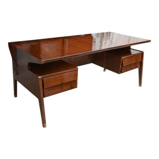 Fine Italian Modern Rosewood Desk, Guglielmo Ulrich For Sale