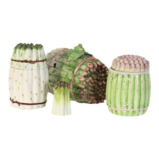 Collection of Vintage Italian Ceramic Asparagus Containers - 4 Pc.