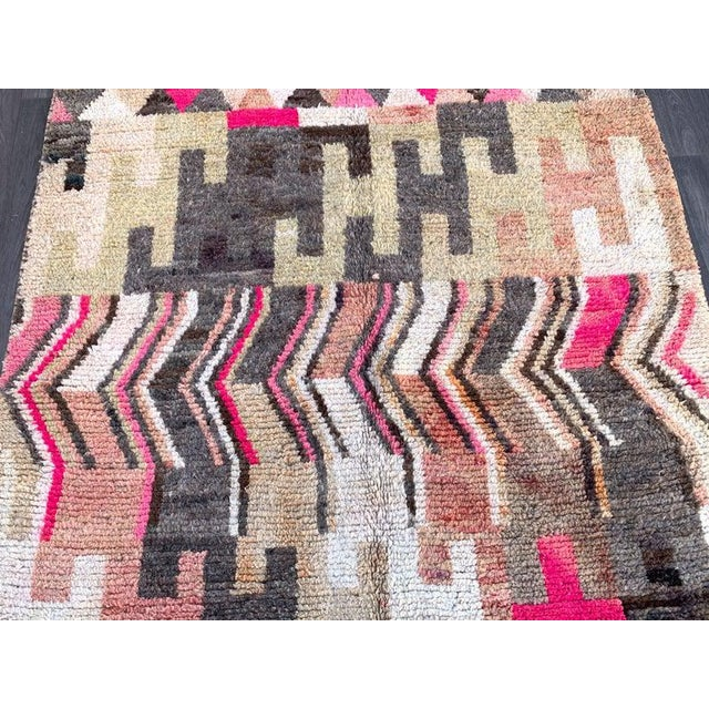Red Berber Moroccan Rugs-5′10″ × 9′4″ For Sale - Image 8 of 9