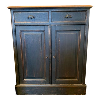1910s Antique French Cabinet With Natural Oak Top For Sale