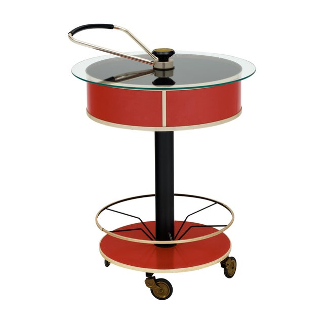 Italian Hydraulic Bar Cart For Sale - Image 10 of 10