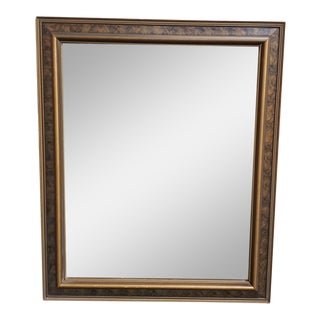 Circa 1825 American Empire Gilded Burlwood Frame Beveled Glass Wall Mirror For Sale