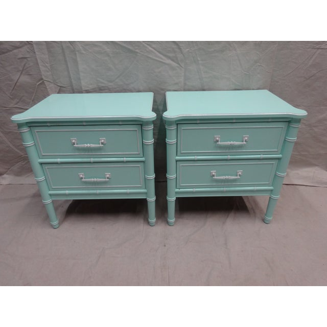 Vintage Bamboo Night Stands - Image 6 of 6
