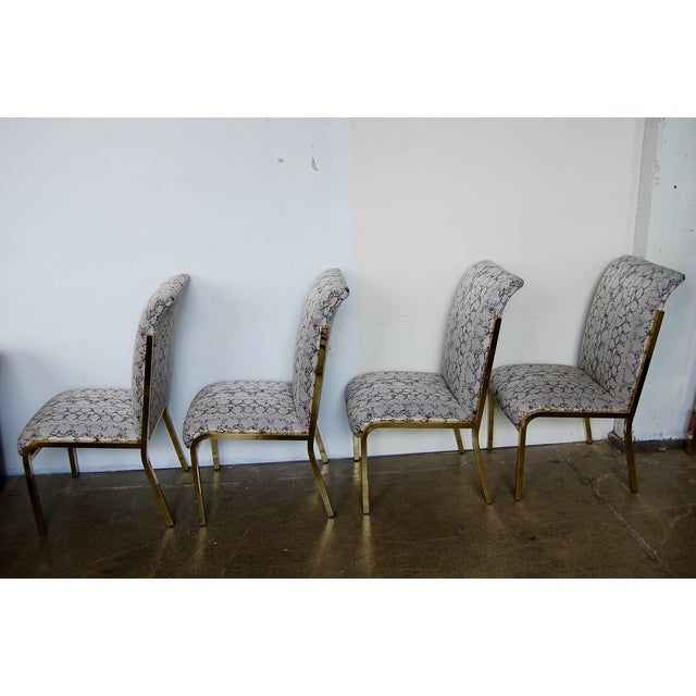 Python & Brass Vintage Dining Chairs - Set of 4 - Image 3 of 11