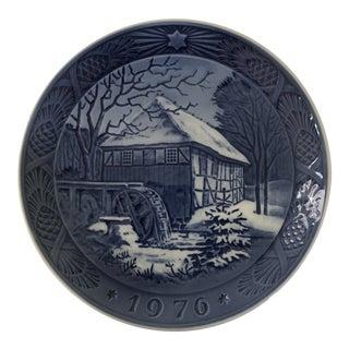 1976 Royal Copenhagen Kai Lange Vibex Water Mill Plate For Sale