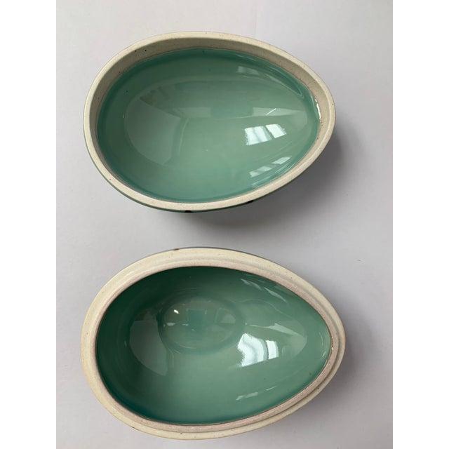 1970s Danish Modern Dansk Large and Medium Jade Green Stoneware Egg Boxes - Set of 2 For Sale In New York - Image 6 of 13