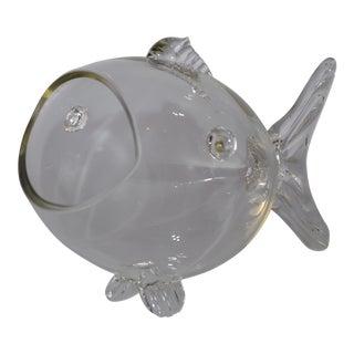 Blenko Handblown Glass Fish Candy Bowl