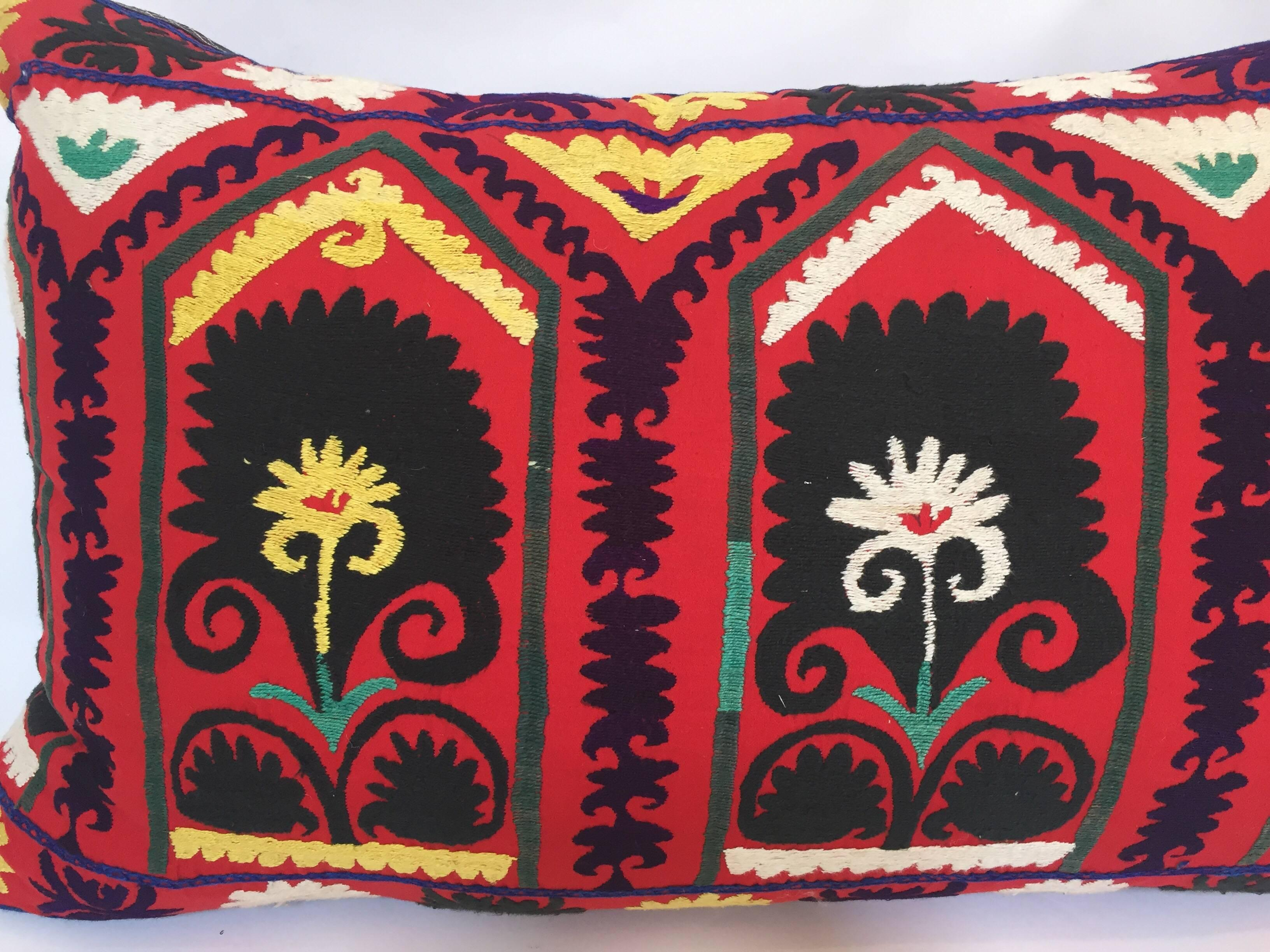 Sophisticated Vintage Large Colorful Suzani Embroidery Decorative