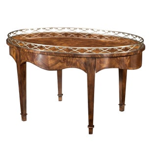 English Traditional Theodore Alexander the Admiral's Cocktail Table For Sale