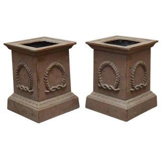 Neoclassical Cast Iron Pedestals or Urns - a Pair