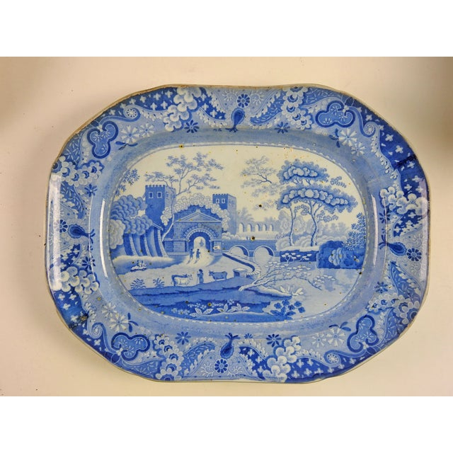 English Ironstone Transferware Platter - Image 2 of 4