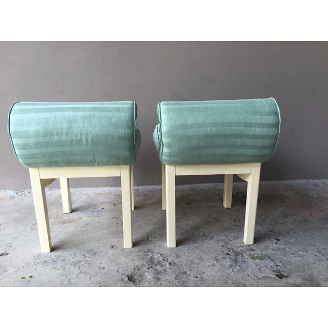 1950s Hollywood Regency Sensual Curvaceous Vanity Stools - a Pair For Sale In Miami - Image 6 of 9