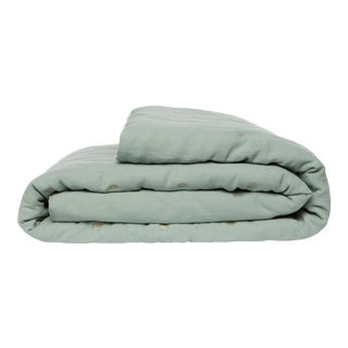 Once Milano Linen Quilt King Size in Sage For Sale