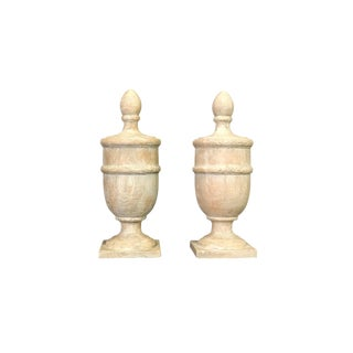 Resin & Plaster Finials - A Pair For Sale
