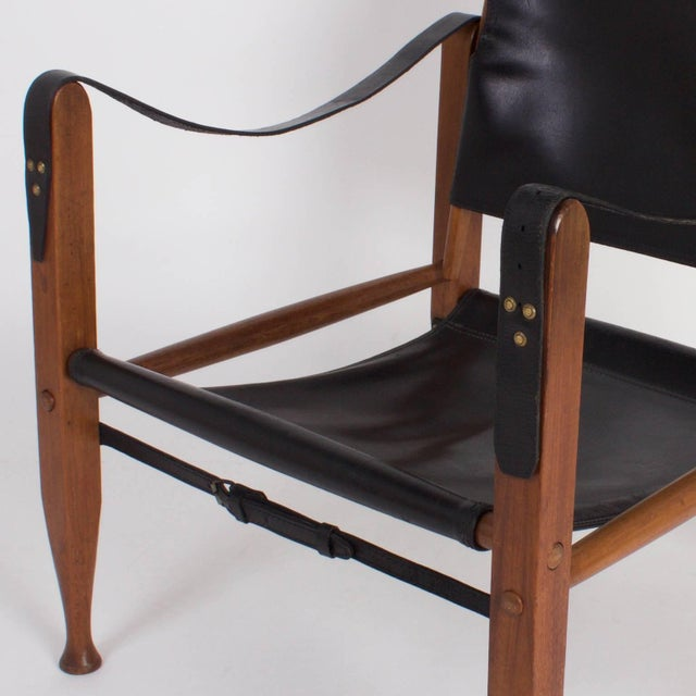 Safari Chair and Ottoman - A Pair For Sale In West Palm - Image 6 of 9