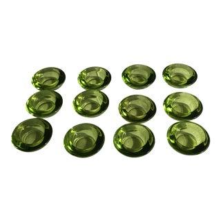 Chartreuse Glass Tea Light Votives - Set of 12 For Sale