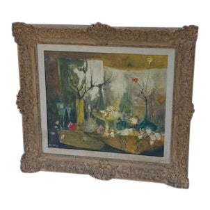 Signed Oil Dolbean 1961 Paris For Sale